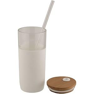 Skleněný pohárek Arlo, bílá