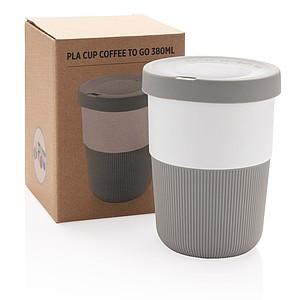 PLA hrnek coffee to go 380ml, šedá