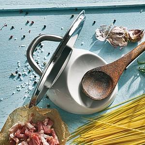 VS KAMAKURA praktický stojánek na vařečku a pokličku, keramika