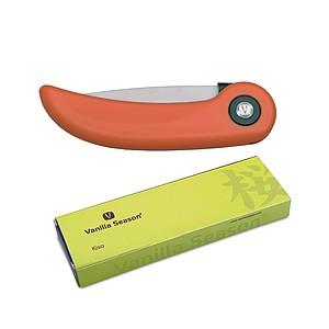 VS KISO Kuchyňský keramický nůž zavírací, oranžový