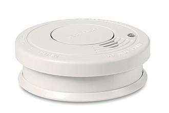 Plastový detektoř kouře, bílý