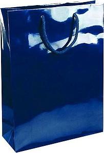 NATALY 32 Papírová taška s lesklou úpravou,32x13x42cm,modrá