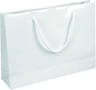 IVONE 35 Papírová taška s lesklou povrchovou úpravou,35x9x24cm