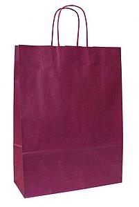 LANKA 23 Červená papírová taška 23x10x32 cm, kroucená držadla papírová taška s potiskem