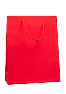 ADAVERA Papírová taška, rozměr 32x13x40cm, červená, lamino lesk