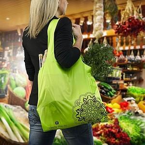 VS BATNA skládací nákupní taška, polyester, světle zelená