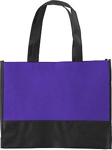 ARMOR Nákupní taška z netkané textilie s černým dnem, fialová papírová taška s potiskem