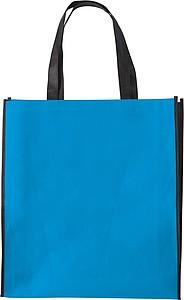 ASUKA Nákupní taška z netkané textilie s černými boky, sv. modrá