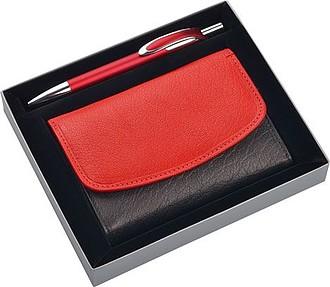 KALYS, dárková krabička s prostorem na peněženku a pero