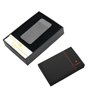 PIERRE CARDIN ELECTRIC Dobíjecí elektrický zapalovač gunmetal reklamní zapalovač