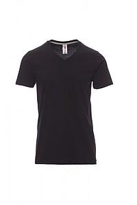 Tričko PAYPER V NECK černá M - reklamní trička