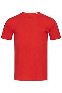 Tričko STEDMAN STARS SHAWN CREW NECK červená L - reklamní vesty