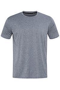 Pánské tričko STEDMAN RECYCLED SPORTS-T MOVE MEN, modrý melír, L - reklamní trička