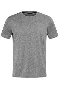 Pánské tričko STEDMAN RECYCLED SPORTS-T MOVE MEN, šedý melír, L