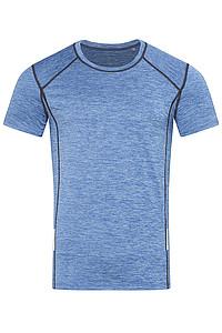 Pánské tričko STEDMAN RECYCLED SPORTS -T REFLECT MEN, modrý melír, L - reklamní bundy