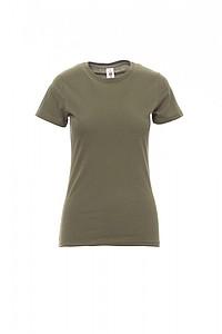 Tričko PAYPER SUNSET LADY military zelená XS - reklamní trička