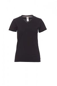 Tričko dámské PAYPER V-NECK černá M - reklamní trička