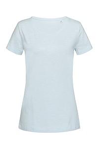 Tričko STEDMAN STARS SHARON CREW NECK světle modrá M - reklamní vesty