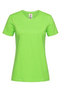 Dámské tričko STEDMAN CLASSIC -T ORGANIC WOMEN z bio bavlny, jasně zelená XS - reklamní trička