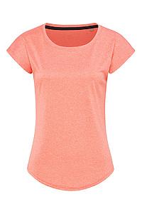 Dámské tričko STEDMAN RECYCLED SPORTS-T MOVE WOMEN, korálově červený melír, L - reklamní bundy