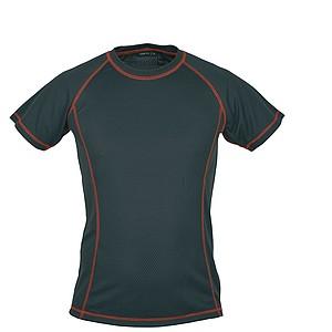 SCHWARZWOLF PASSAT MEN funkční tričko, červené prošívání, L - reklamní trička