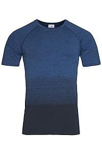 Pánské tričko STEDMAN ACTIVE SEAMLESS RAGLAN FLOW MEN, černá/nám. modrá S - reklamní vesty