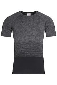 Pánské tričko STEDMAN ACTIVE SEAMLESS RAGLAN FLOW MEN, černá/tmavě šedá XL