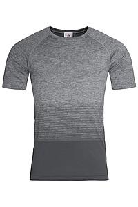 Pánské tričko STEDMAN ACTIVE SEAMLESS RAGLAN FLOW MEN, černá/světle šedá XL - reklamní vesty