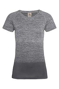 Dámské tričko STEDMAN ACTIVE SEAMLESS RAGLAN FLOW, černá/světle šedá, L - reklamní vesty