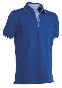 Polokošile PAYPER CAMBRIDGE královská modrá, bílá XXXL - reklamní vesty