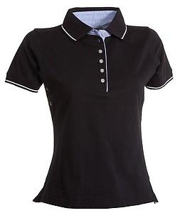 Polokošile PAYPER LEEDS černá, bílá M - reklamní trička