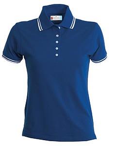 Polokošile PAYPER SKIPPER LADY královská modrá, bílá M - reklamní trička