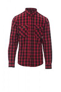 Pánská košile PAYPER LABRADOR červená/černá, L - reklamní trička