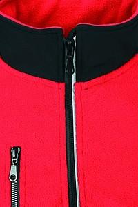 SCHWARZWOLF BESILA pánská fleece mikina, červená M
