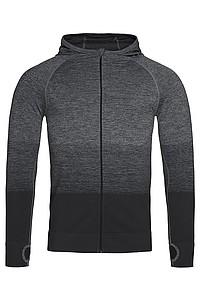 Pánská funkční mikina STEDMAN ACTIVE SEAMLESS JACKET, černá/tmavě šedá, L - reklamní trička