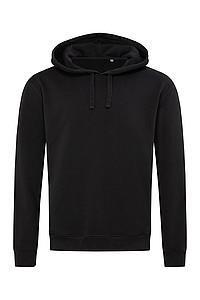 Univerzální mikina STEDMAN RECYCLED UNISEX SWEAT HOODIE, černá, 3XL - reklamní trička