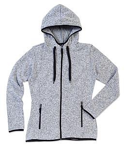 Mikina STEDMAN ACTIVE KNIT FLEECE JACKET WOMEN světle šedý melír XL - reklamní trička