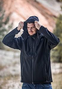 SCHWARZWOLF BREVA bunda pánská, logo vzadu, černá XXXL