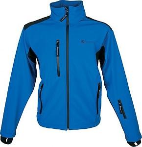 SCHWARZWOLF BREVA bunda pánská, logo vpředu, modrá XXL