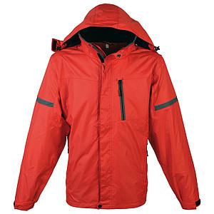 SCHWARZWOLF BONETE pánská podzimní bunda, červená M - reklamní bundy