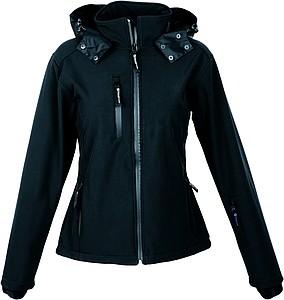 SCHWARZWOLF BREVA bunda dámská, logo vzadu, černá L