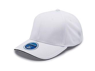 PALOK Funkční sportovní čepice z polyesteru, bílá - reklamní čepice