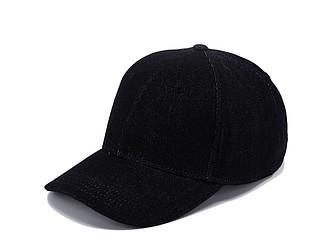 KALEA Šestipanelová čepice s vyztuženým čelem v džínovém designu, černá - reklamní vesty