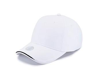 ANGELIKA Sportovní čepice s UV ochranou 30+, bílá - reklamní čepice