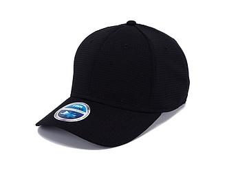 STÁZINKA Funkční šestipanelová čepice s vyztuženým čelem, černá - reklamní vesty