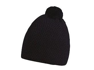 FELIPE Zimní čepice s bambulí, černá - reklamní čepice
