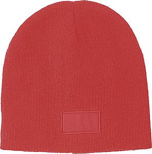 REKOJA Pletená čepice, červená - reklamní čepice