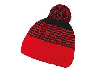MILONA Dvoubarevná zimní čepice, černá/červená