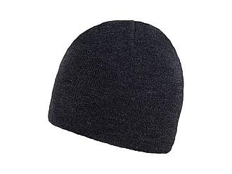 RIETA Univerzální dvojitě pletená zimní čepice, černá