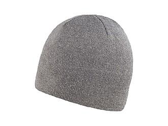 RIETA Univerzální dvojitě pletená zimní čepice, šedá - reklamní čepice
